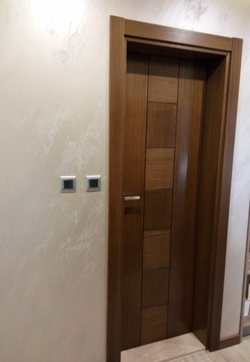 Водоустойчива врата за баня - външна кафява половинка
